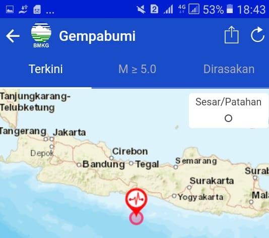Gempa Bumi Magnitudo 5 Kejutkan Warga Cilacap