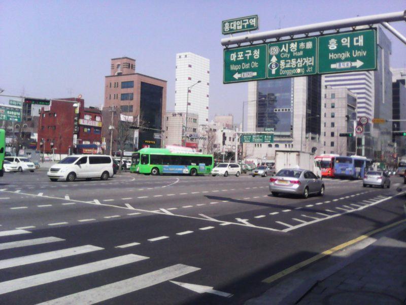 Suasana di salah satu sudut kota Seoul