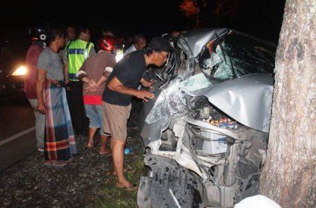 Kecelakaan di jalan nasional di Desa Mantrianom Kecamatan Bawang, Kamis (16/1/2019)