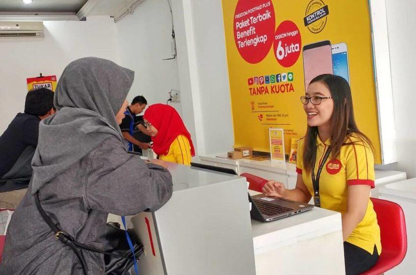 Untuk lebih mendekatkan diri ke konsumen, gerai Indosat Ooredoo pindah dari Ruko PJKA ke Kebondalem.