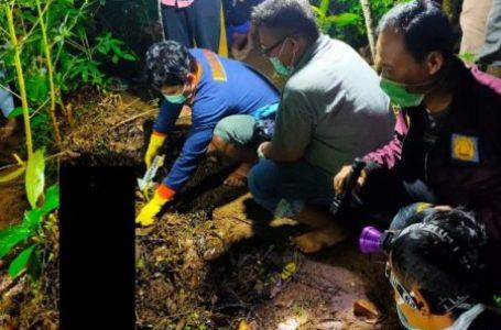 OLAH TKP : Polisi menggelar olah TKP di lokasi pembunuhan siswa SD