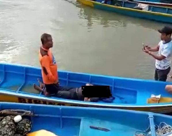 Satu Pemancing Tewas, Tiga Selamat, Perahu Terbalik dan Tercebur ke Laut