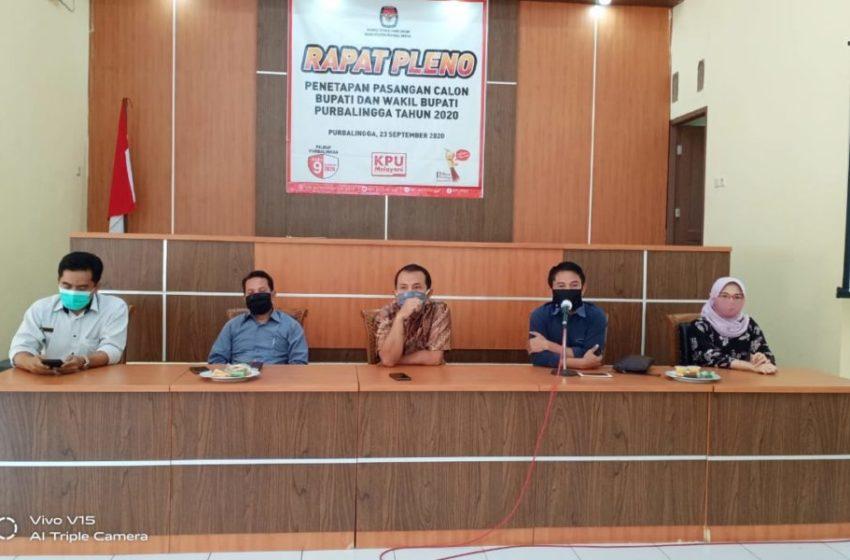 Tiwi-Dono Vs Oji-Jeni, KPU Sahkan Calon Bupati Purbalingga 2020
