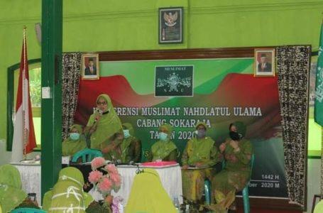 Hj Muslimah Pimpin Kembali Sebagai Ketua PC Muslimat NU Sokaraja