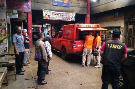 Tim Labfor Polda Jateng Gelar Olah TKP Kebakaran Pasar Wage