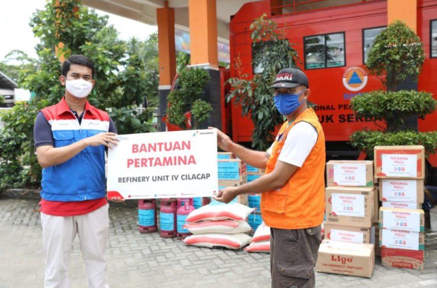 Gandeng BPBD Cilacap, Pertamina Grup Serahkan Bantuan