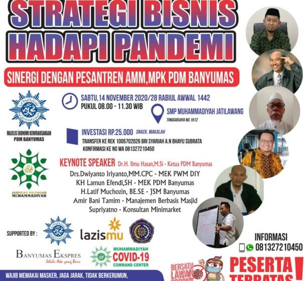 Hari ini, Para Saudagar Muhammadiyah di Banyumas Berbagi Strategi Bisnis Hadapi Pandemi