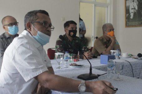 PERTEMUAN : Pertemuan antara Project Manager PT Angkasa Pura II Pjs Bupati dan Forkopimda Purbalingga di Markas Lanud JB Soedirman, Selasa (1/11).