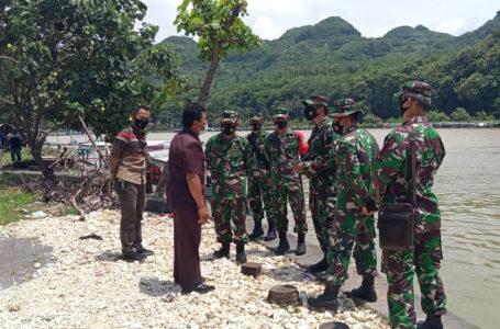 Dandim Cilacap Cek Aset TNI AD di Sepanjang Pesisir Selatan