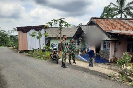 Koramil 04/Kutasari Kunjungi Warga, Beri Himbauan Disiplin Prokes