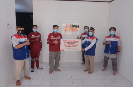 Pertamina Cilacap Salurkan Donasi Untuk Korban Gempa Mamuju dan Majene