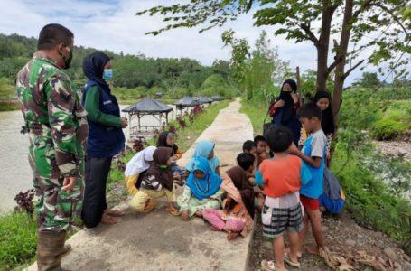 Anak-anak Korban Tanah Gerak di Purbalingga Mendapatkan Trauma Healing