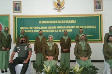Pengangkatan Dalam Jabatan Wakil Ketua Persit KCK Cabang XVI Kodim 0701 Banyumas