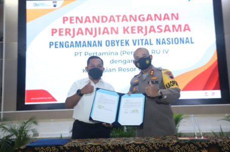 Pertamina RU IV Cilacap Perpanjang Kerjasama dengan TNI dan Polri