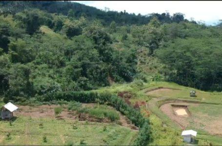 Sasaran Fisik Pembangunan Jalan Difoto dari Udara di Purbalingga