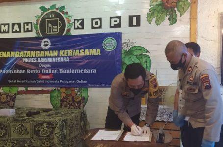 Polres Banjarnegara Bantu Cari Solusi Terpuruknya Pendapatan Resto di Masa Pandemi