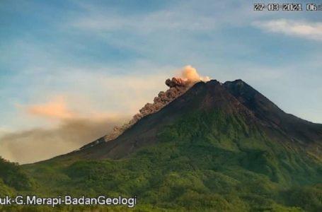 Gunung Merapi Muntahkah Awan Panas 1,5 Km ke Barat Daya
