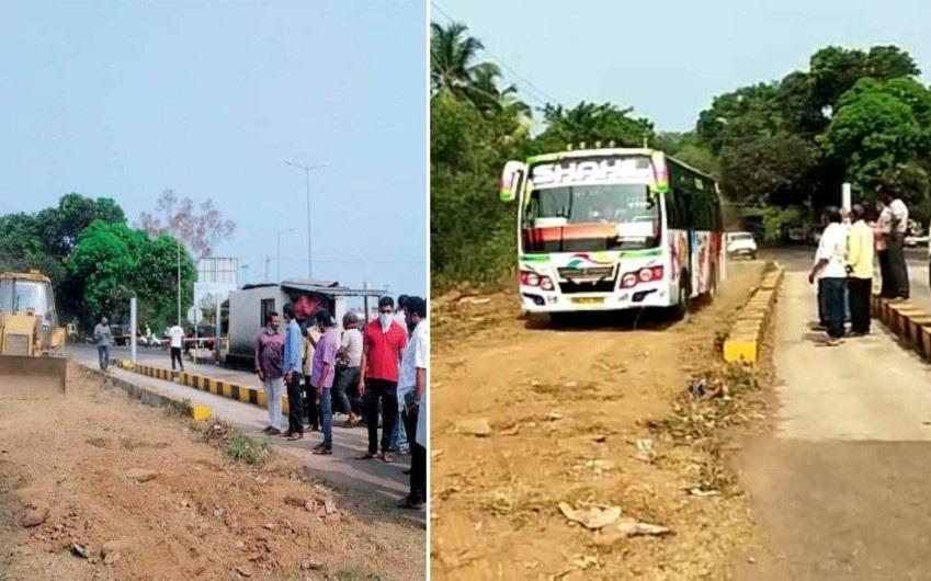 Kesal dengan Pengelola Tol, Warga Desa Hejamadi India Bikin Jalan Tandingan