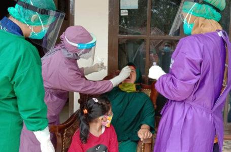 Satu Keluarga di Desa Palugon Kecamatan Wanareja Jalani Contact Tracing