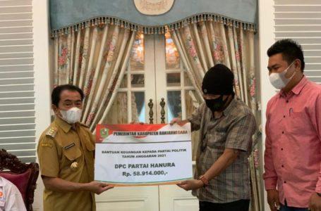 10 Partai Politik di Banjarnegara Terima Bantuan Keuangan