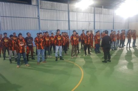 PAC Pemuda Pancasila Dayeuhluhur Gelar Latsar Calon Koti