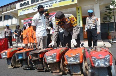 Komplotan Spesialis Maling Mesin Traktor Diringkus Polres Cilacap