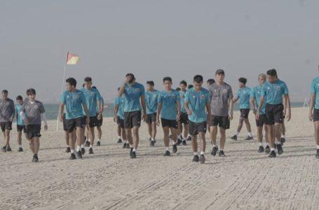 Tiba di Dubai, Timnas Indonesia Latihan Ringan di Tepi Pantai