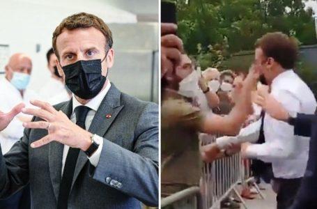 Presiden Prancis Ditampar Pria Tak Dikenal saat Blusukan