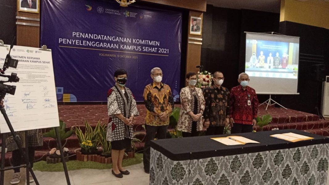 UMP - UGM- KEMENKES RI Jalin Kerjasama Pengembangan Kampus Sehat